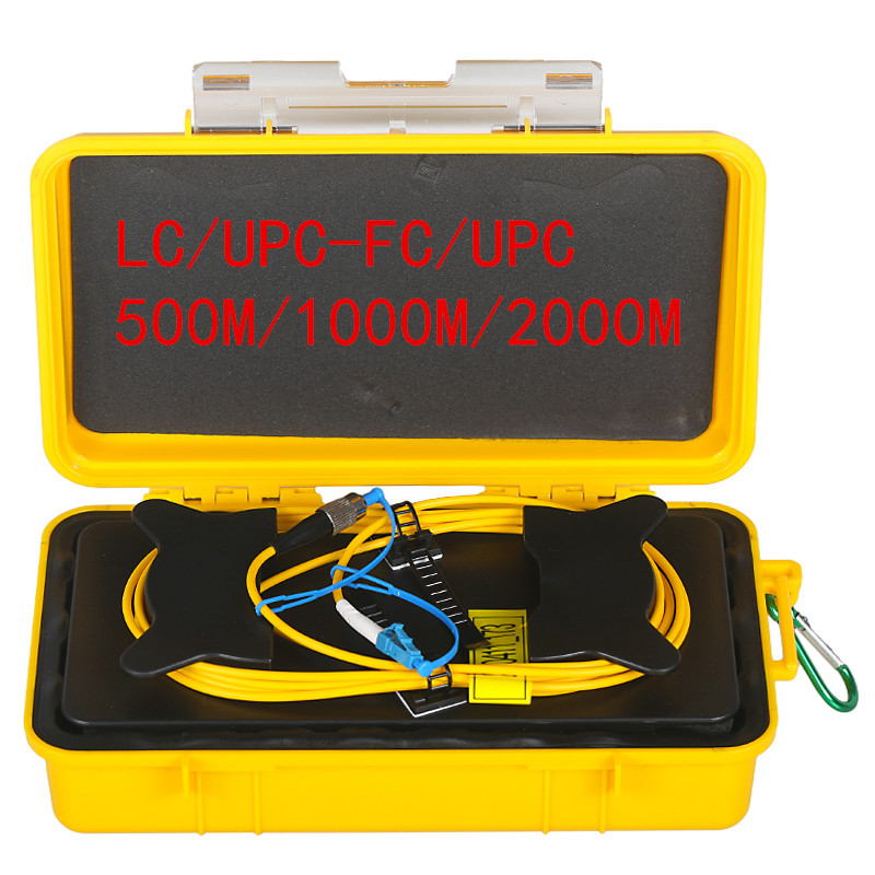 Trasporto libero LC/UPC-FC/UPC Zona Morta OTDR Eliminator, Fibra di Anelli, in fibra Ottica OTDR Launch Box Via Cavo 500 M 1Km 2Km SM 1310/1550nmTrasporto libero LC/UPC-FC/UPC Zona Morta OTDR Eliminator, Fibra di Anelli, in fibra Ottica OTDR Launch Box Via Cavo 500 M 1Km 2Km SM 1310/1550nm