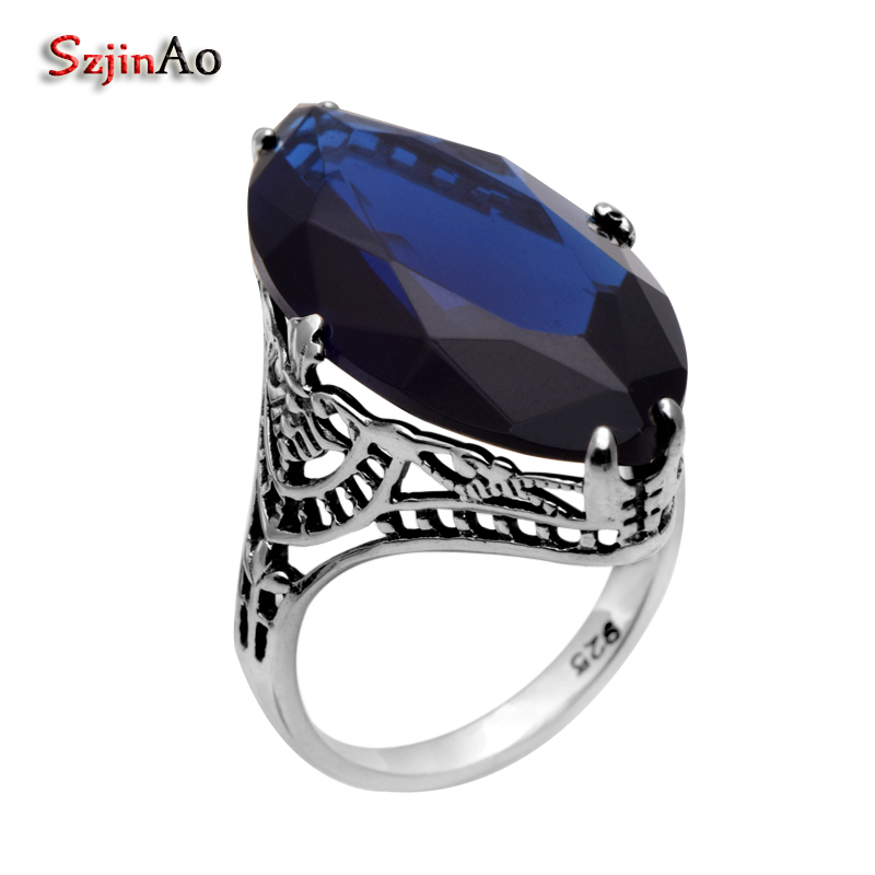 Szjinao Fashion Big Oval Anchor Wedding Rings For Women Victoria