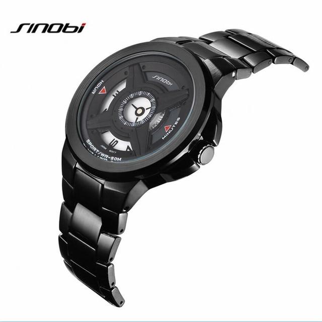Relogio Masculino Sinobi S9618G Luxury Brand Full Stainless Steel Men's Quartz Watch Waterproof Business Watch Men Watch AB2241