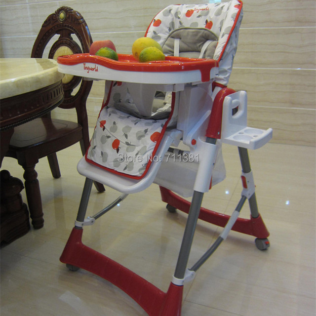 Free Shipping Baby Dining Chairs For 0-4 Years Old Children Red Colors Safe Style Material Plastic Weight 10kg Children Chairs