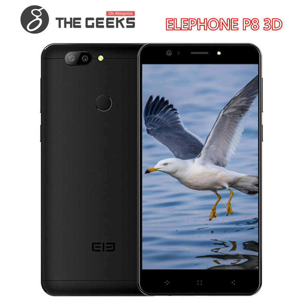 Original ELEPHONE P8 3D/P Series Callphone 5.5 polegada 4 gb RAM gb ROM MTK6750T 64 OctaCore desbloqueio de Impressão Digital android 4g Smartphones