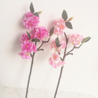 Fake mini Cherry Sakura Flower Artificial Flowers Cherries for Bridal Bouquet Accessories Home Decoration