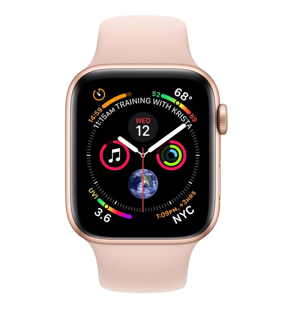 Apple Watch Watch Series 4, OLED, Touchscreen, GPS (satellite), Cellular, 36.7 g, Gold