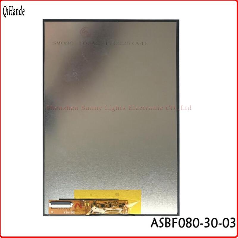 Polegada ASBF080-30-03 lcd Para Onda 8 V820W Dualboot ASBF080-30-02 ASBF080-30-01 tela LCD IPS resolução de tela de exibição 1280*800