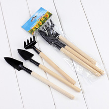 Free shipping 3pcs Mini Gardening Spade Shovel Rake Garden Plant Cultivating Tool Plant Tool with Wooden Handle Gardening Tool