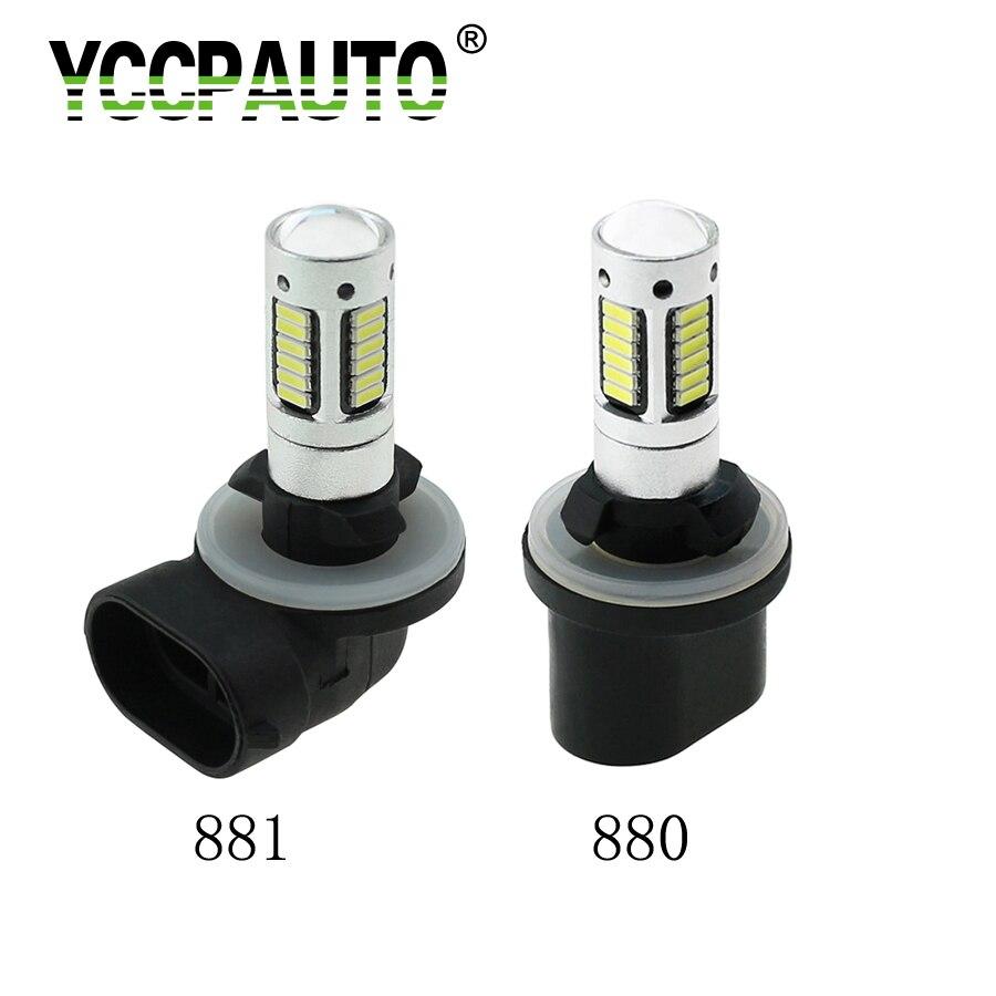 YCCPAUTO 1 шт. H27 H27W2 881 880 автомобильные светодиодсветодиодный противотумансветильник ры 30smd 4014 светодиодсветодиодный желтые белые Автомобильны...