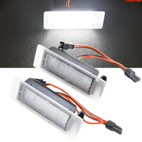 1 Pair DC 12V Car Replace Light External SMD 3528 Led License Plate Lights Lamp For