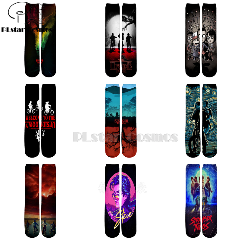 Plstar Cosmos Stranger Things Socks Cartoon 3d Socks Men Women Funny 3D High Socks Men Women High Quality Dropshopping