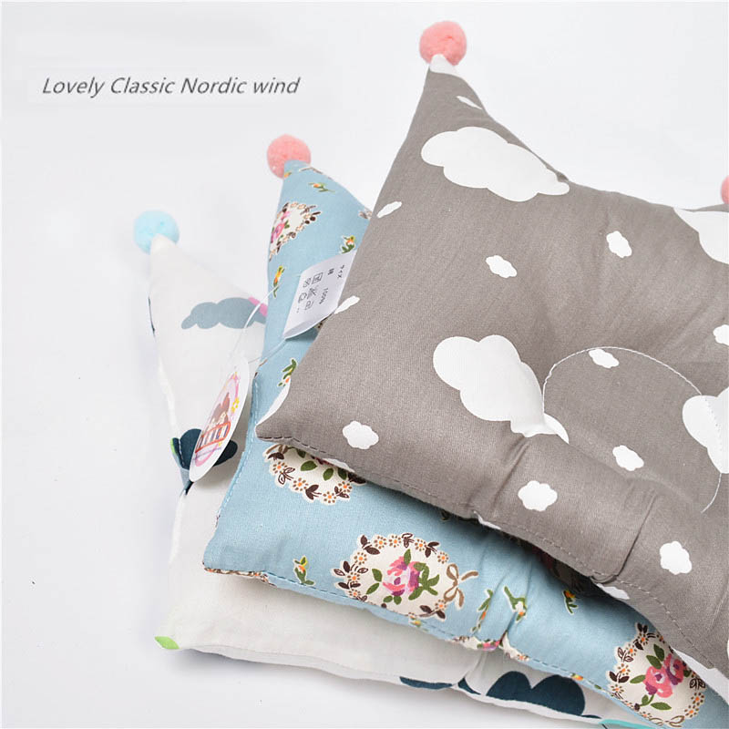 Cotton Baby Shaping Pillow Crown Infant Pillow Prevent Flat Head Crown Pillow Positioner Anti-roll Cushion Flat Head Protection