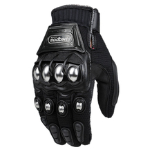 Alloy Steel Madbike Motorcycle Gloves Racing Gloves Motorbike Gloves Protective Guantes Luvas Para Motor Black Blue Red MLXL XXL