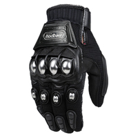 Alloy Steel Bicycle Motorcycle Motorbike Powersports Racing Gloves Black M L XL