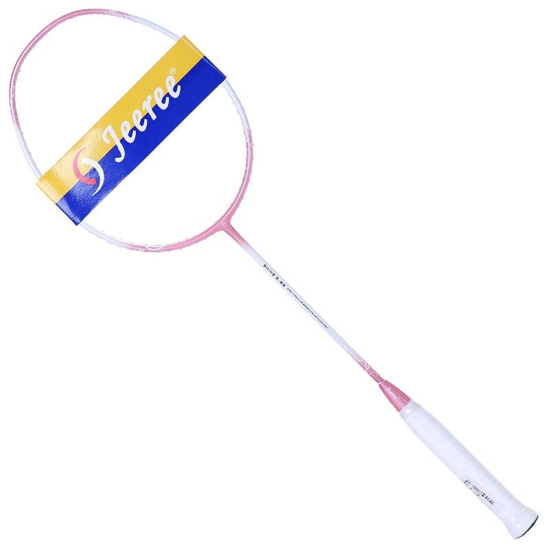 JEEREE new ultra-light high rebound attack men and women single badminton racket 100% carbon three-color badminton racket