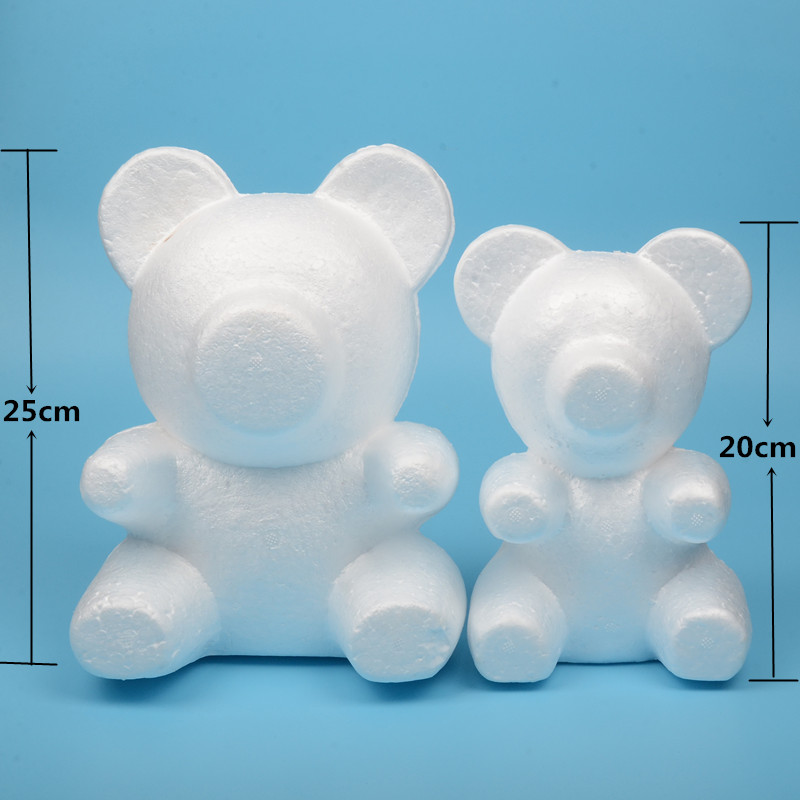 4 size Polystyrene Styrofoam Foam Ball Rose Bear White Craft For DIY Party Decoration Wedding New Year Valentines Day Gift 2