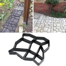 Украшение сада DIY Путь производитель бетонных форм цемент плесень Бетон цемент камень ходьбы тротуарной плитки многоразовая форма для бетонных кирпичей