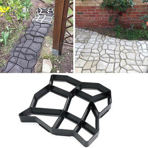 Garden Decoration DIY Path Maker Concrete Molds Cement Mold Concrete Cement Stone Walk Paving Paver Reusable Concrete Brick Mold(China)