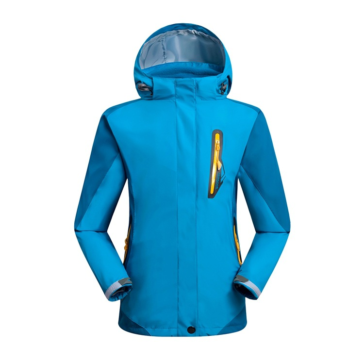 Two sets of outdoor windproof waterproof mountaineering wear for children storm jacket for boys and girls ski wear size S-2XL купить недорого в Москве