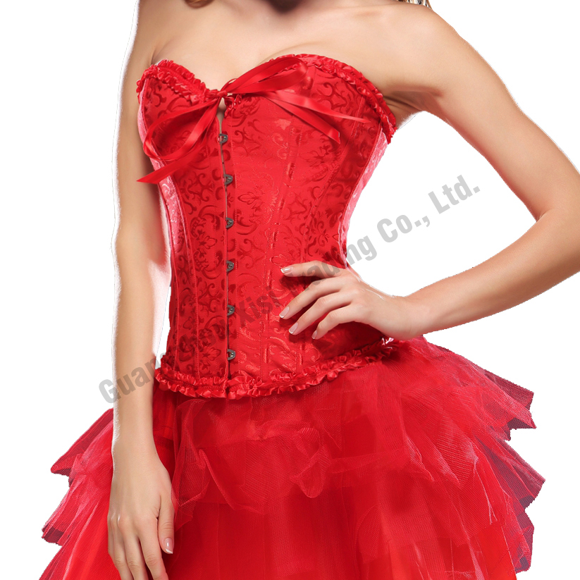 Popular Red Corset Dress-Buy Cheap Red Corset Dress lots from ...