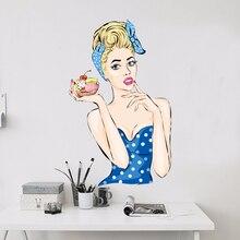 Sex Health and Fitness Fruit Gir Hot Girl L Wall Vinyl Sticker Pattern Custom Home Decor Wedding PVC Wallpaper Art Design Poster