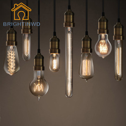 Brightinwd e27 220v 40w edison light bulb vintage retro edison lamp incandescent carbon filament glass bulb.jpg 250x250