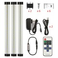LED Strip 3p/set 110-240V SMD2835 warm white/white 0.3M*3W EU/US with remote control (Use the button battery) dimmable bar light