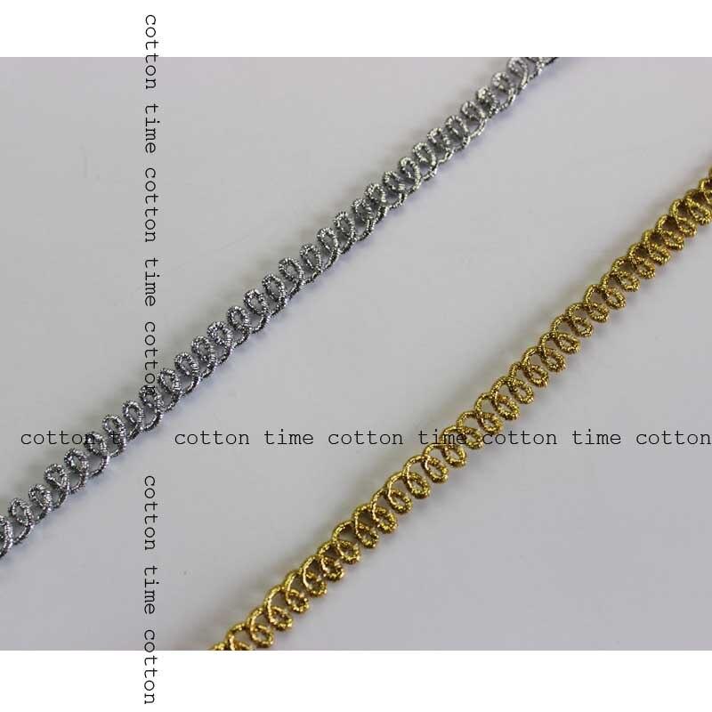 3 yard 0,7 cm Mini Braid Trim jacquard Metallic Spitze Goldene gewebt Trimmen Nähen Zubehör für Bekleidungs DIY Trimmen