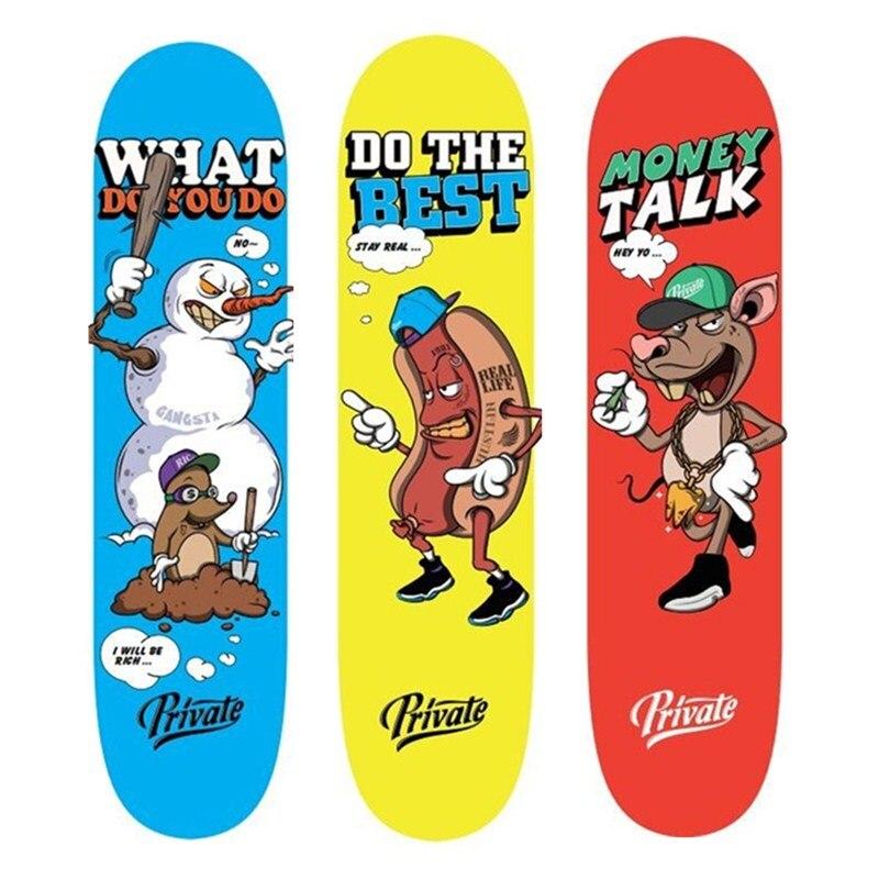 Plate-forme de planche à roulettes Pro 7.875 Patins de Skate en bois d'érable canadien de 8 pouces