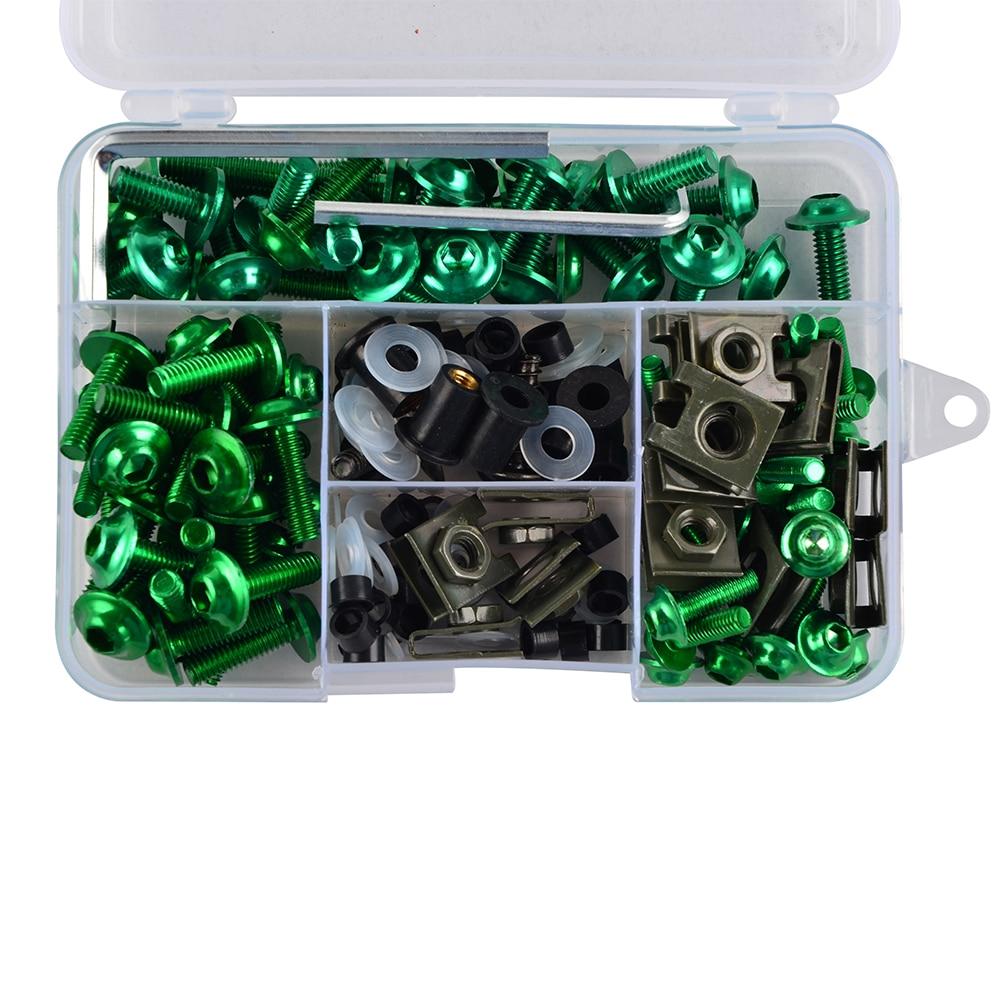 Color: Black Fittings Complete CNC Fairing Bolts Kit Bodywork Screws Nut for Suzuki Vstrom 650 1000 DL650 DL1000 TL1000S TL1000R GSX1300R