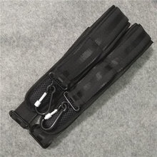 Genuine violin box strap human body comfortable design Black mountaineering buckle Cello case strap