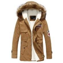 Winter hooded Velvet Parkas warm Zipper bomber jacket with Sashes men jacket coat pockets autumn mens outerwear overcoat male