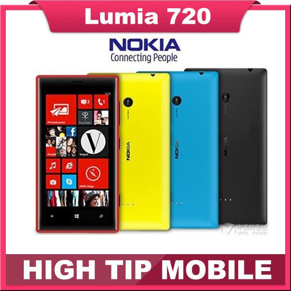 """Original abierto de nokia lumia 720 dual core teléfonos móviles 6.7mp wifi 4.3 """"GPS SISTEMA OPERATIVO Windows 8 GB Reformado Por SGPost Envío Gratis"""