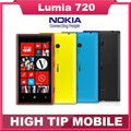 "Unlocked Original Nokia Lumia 720 Dual core Mobile phones 6.7MP WIFI 4.3"" GPS Windows OS 8GB Refurbished By SGPost Free Shipping"
