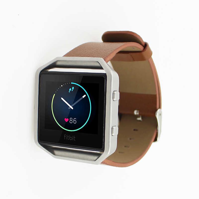 רצועת השעון באיכות טובה עור אמיתי יוקרה צפה בנד רצועת יד עבור Fitbit Blaze עיצוב אופנה שעון חכם הגעה חדשה
