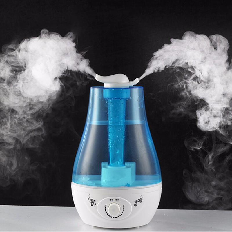 Double Spray Air Humidifier 3L Aroma Essential Oil Diffuser Ultrasonic Air Humidifier  Mist Maker Fogger Humificadores Casa