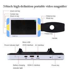 NEW 5.0inch high-definition portable video magnifier VD500 Electronic amplification monitor free shipping