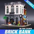 2016 New LEPIN 15001 2413Pcs Creator Brick Bank Model Building Kits  Blocks Bricks Toy Compatible With  10251