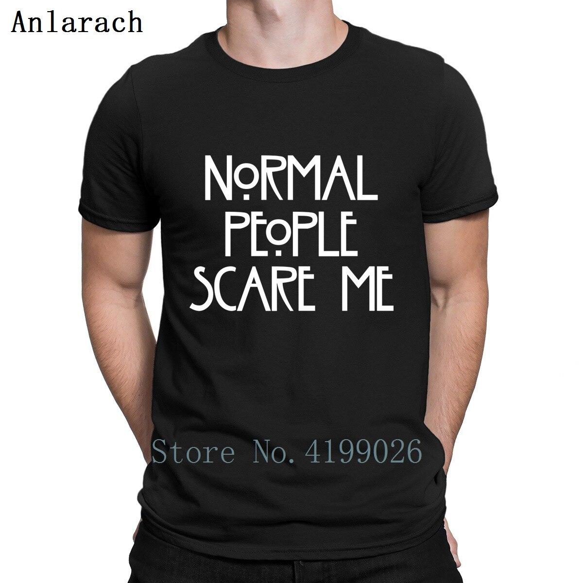 Novas Pessoas Normais Me Assustam T-Shirt Hilariante Novidade Roupas Primavera American Horror Story Camiseta For Men O Pescoço Básica hiphop