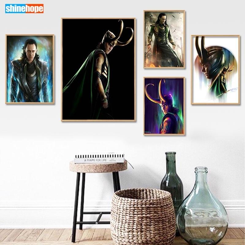 Canvas Poster Loki Custom Avenger No-Frame Home-Decor Print Fabric 27x40cm30x45cm Silk