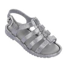 Mini Melissa Brazil Girls Jelly Sandals 2019 Children Beach Princess Shoes Breathable 12.8-17.8cm