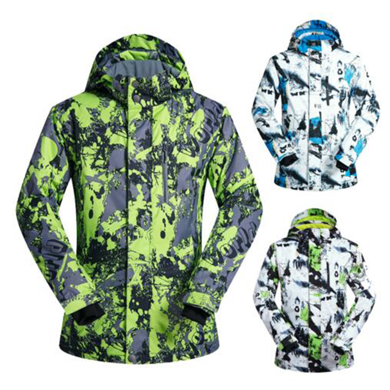 Брендовые зимние лыжные куртки Для мужчин Одежда высшего качества ветрозащитная Водонепроницаемый утолщаются Кемпинг Пеший Туризм Восхож