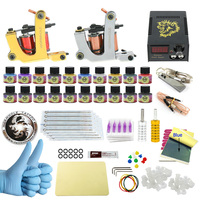 WORMHOLE TATTOO Complete Starter Tattoo Kit 2 Machine Liner Shader Gun 20 Color 5ml Inks Power
