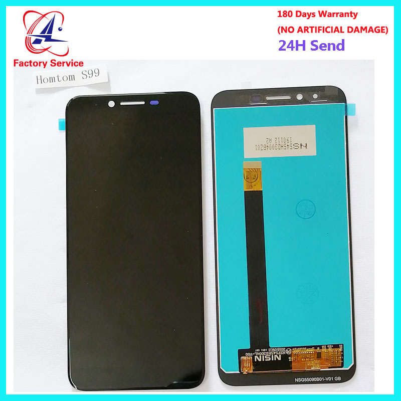 For 100% Original HOMTOM S99 LCD Display With Touch Screen Digitizer Assembly Replacement Parts 5.5 inch(China)