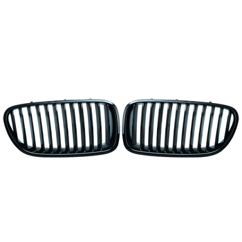 1Pair Matt Black Front Kidney Grille Grills for BMW F10 F11 F18 5 Series M5 Saloon 10-14 Car Racing Grille D10 grille