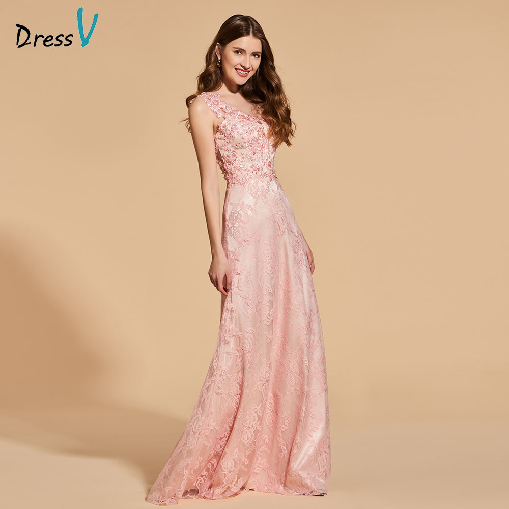 Dressv   prom     dress   scoop neck a line sleeveless beading button lace floor length evening party gown   prom     dresses   customize