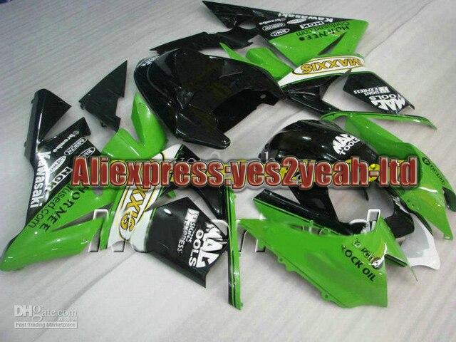 Para 2004 2005 KAWASAKI Ninja ZX10R 04 05 ZX-10R 2004 - 2005 ZX 10R 04 05 kits de carenagem verde preto