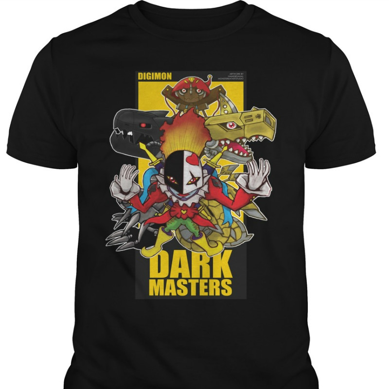 390f24be Los hombres T camisa mujeres camiseta Digimon oscuro Masters T camisa