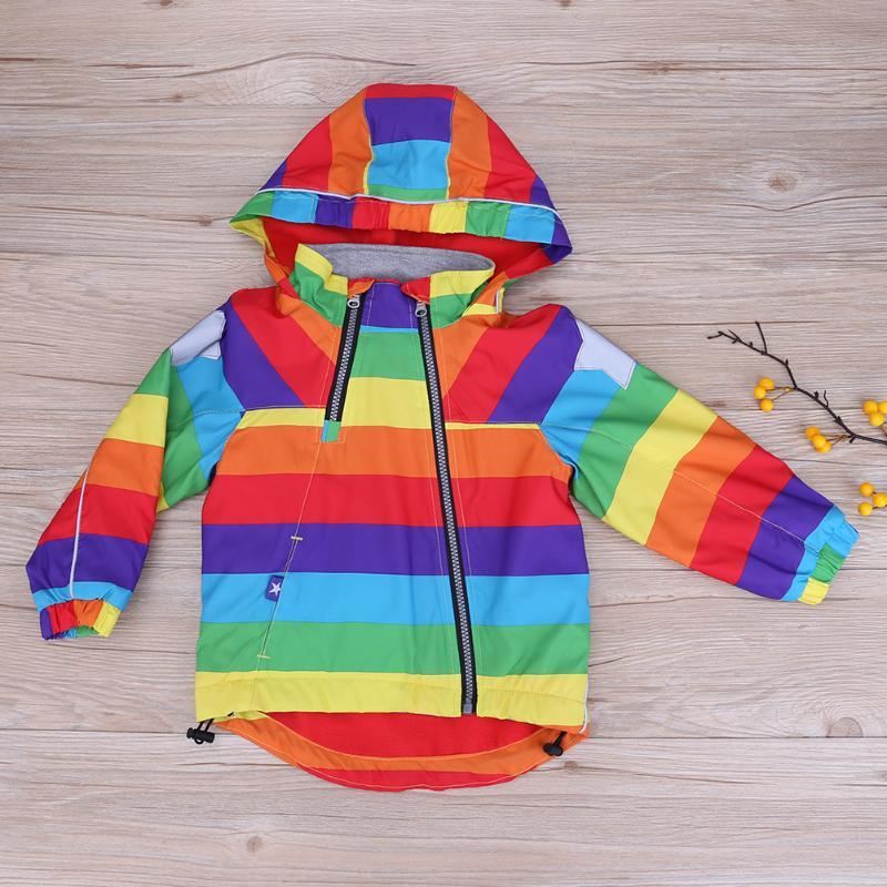 18m-6ychinatera Повседневные детские куртки дети радуги Пальто для будущих мам Куртки «пилот» для мальчиков весенние детские Обувь для девочек ве...