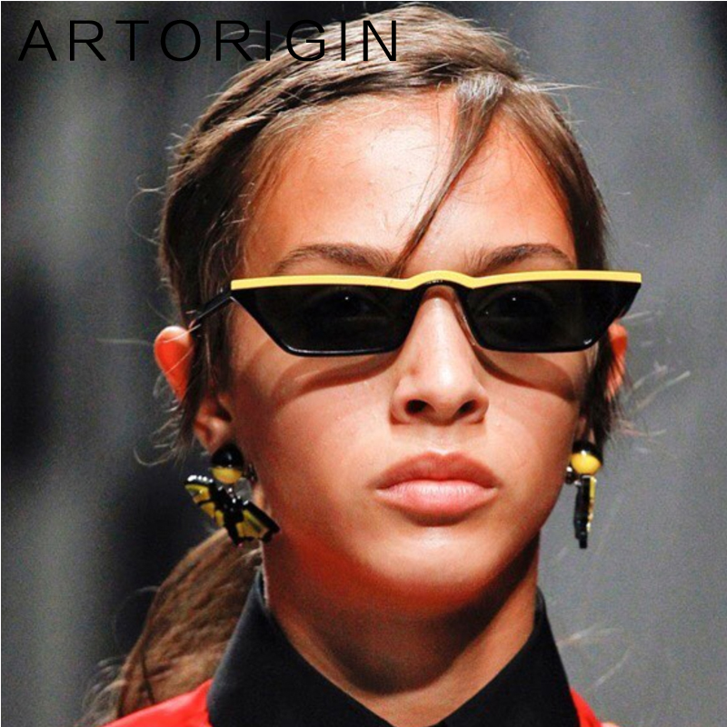 ARTORIGIN Brand Small Sunglasses Women Colorful Narrow Cat Eye Glasses Female Cheap Wholesale Eyewear Oculos Lunette 9240