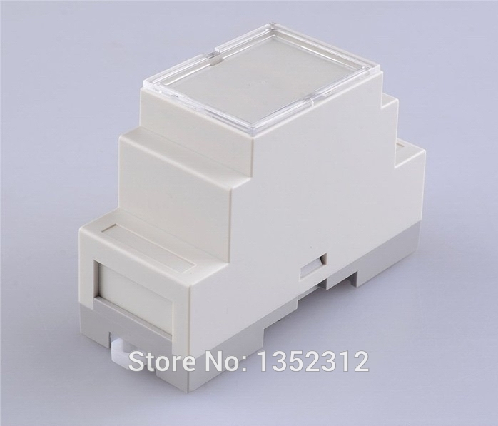 10 pcs/lot 87*60*36mm IP54 fireproof din rail enclosure electronic industry box instrument box plastic enclosur controller box image