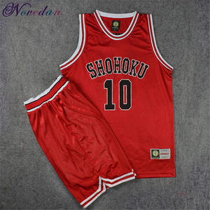 Slam Dunk Jersey Shohoku School Basketball Team Rukawa Hanamichi Sakuragi Shirt Sports Wear Uniform Anime Cosplay Costume(China)