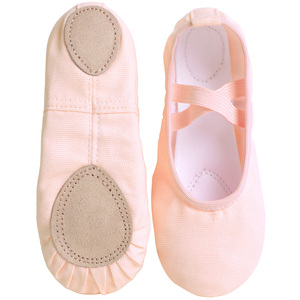Kids Dance Slippers Adult Professional Canvas Soft Sole Ballet Shoes Girls Women Children Ballet Slippers(China)